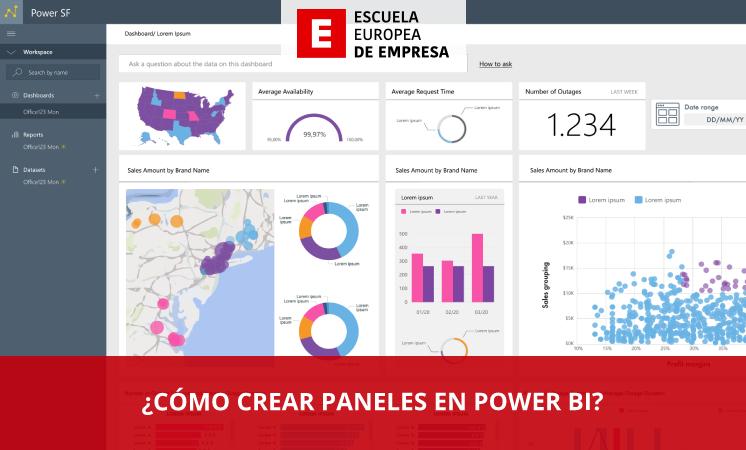 ¿Cómo crear paneles en Power BI? - Escuela Europea de Empresa